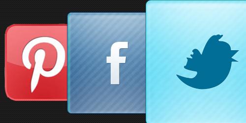 Jesteśmy na twitterze, facebook'u i pinterest.